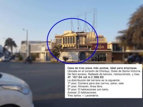 Alquilo Casa Para Oficina En Ovalo Santa Victoria De Chiclayo