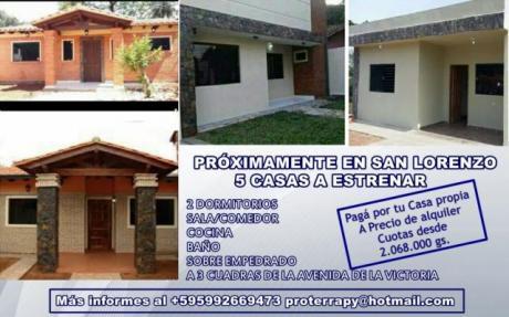 Pague Por Su Casa Propia A Precio De Alquiler!!!!