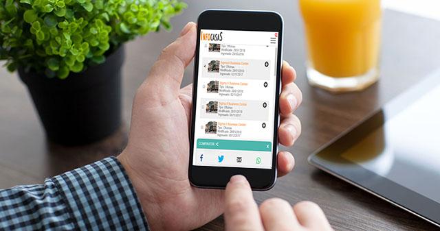Nuevos botones para compartir tu propiedad en redes sociales