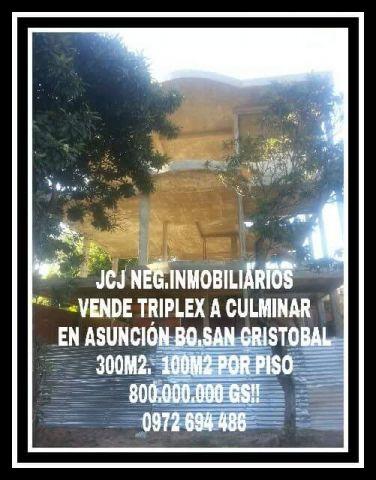 Vendo Triplex A Culminar En Asunción, Excelente Ubicaciónespecial Para Inversión
