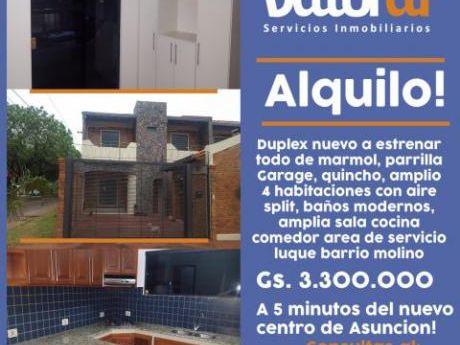 Alquilo Duplex A Estrenar! Luque Barrio Molino