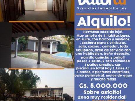 Alquilo Hermosa Casa En Asuncion, Barrio Los Laureles!